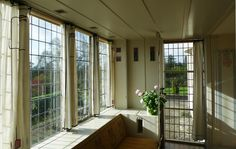 Mackintosh - Colour photograph of bay window in Drawing Room at The Hill House