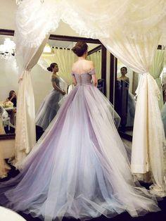 Charming Prom Dress,Ball Gown Prom Dress,Organza Long Prom