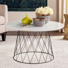 Safavieh Roe Retro Mid Century Wood Coffee Table White - FOX4244C