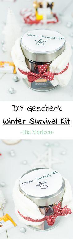 DIY Winter Survival Kit selber machen - schöne, schnelle und einfache Geschenkidee für Weihnachten, Wichtelgeschenk, Geschenke verpacken, DIY Geschenke, Geschenke selber machen #geschenkidee