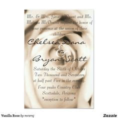 Vanilla Rose Card