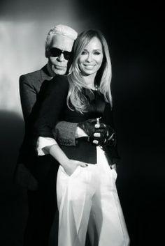 Joanna Przetakiewicz & Karl Lagerfeld