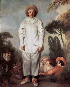 Pierrot (or Gilles) - Jean-Antoine Watteau, Musée Du Louvre, Paris. Jean Antoine Watteau, Stock Character, Pierrot Clown, Oil On Canvas, Canvas Art, Paris Canvas, Art Français, Louvre Paris, French Paintings