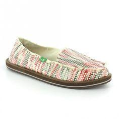 Sanuks For Women   Sanuk Sanuk Lime Light Womens Striped Textile + Sequin Slip-on Shoes ...cute!!!!!!