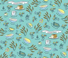 Weekend bread fabric by needlebook on Spoonflower - custom fabric