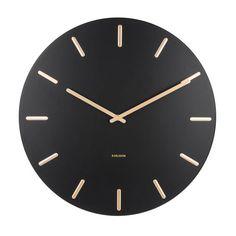 Karlsson Klokken klok Charm (Ø45 cm) | wehkamp Wall Clocks Uk, Wall Clock Design, Black Walls, Cheap Home Decor, Steel Frame, Interior Design Living Room, Custom Jewelry, Decoration, Shopping