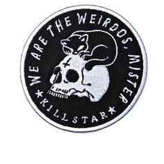 Killstar Weirdos Patch (10 AUD) ❤ liked on Polyvore featuring accessories and patches