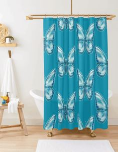 #ShowerCurtain#Turquoise#findyourthing #Redbubble#Bath #Bathroomdecor #bathMat#butterfly#moths#emerald#Zazzle Butterfly Shower Curtain, Turquoise Bathroom, Bath Mat, Emerald, Curtains, Blanket, Insulated Curtains, Blinds, Blankets