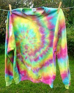 Custom Made Tie Dye Sweatshirt by beachbumtiedye - Each sweatshirt is handmade when ordered and will be truly one of a kind! Tie Dye Fleece starting at $28.00 at etsy.com/shop/beachbumtiedye