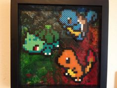 #Pokemon Bead Fan Art Video Game Crafts, Video Game Art, Perler Beads, Pokemon, Nerd, Fan Art, Painting, Hipster Stuff, Painting Art