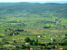 View from Gavorrano Maremma Tuscany.