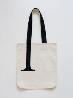 Serif Tote Bag (Canvas) by Little Factory