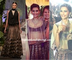 Love the neckpiece! sonam-kapoor-anamika-khanna-wedding-jodhpur-black-lehenga