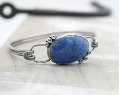 A personal favorite from my Etsy shop https://www.etsy.com/listing/566741481/lapis-lazuli-sterling-silver-bangle