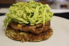 Broccoli Fritters, Turkey Burgers and Avocado Slaw - Food I Make My Soldier - OMG this looks amaze-balls
