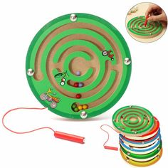 New Arrival Children Round Wooden Puzzle Magnet Beads Slot Maze Board Game Educational Toys Learning Intelligence Game For Kids Educational Toys For Kids, Learning Toys, Magnetic Drawing Board, Brain Teaser Puzzles, Game Prices, Science Toys, Board Games For Kids, Developmental Toys, Puzzles For Kids