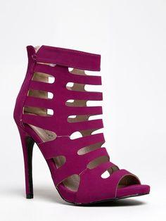 NEW QUPID Women Cutout Strappy High Heel Sandal Fuchsia Purple sz Magenta Glee16 in Clothing, Shoes & Accessories, Women's Shoes, Heels   eBay