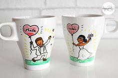 ArtisTazas de La que pinta, regalo original y personalizado para los invitados de tu boda