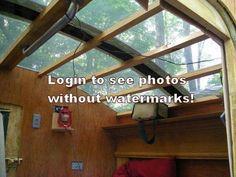 Entire Plexiglass roof.