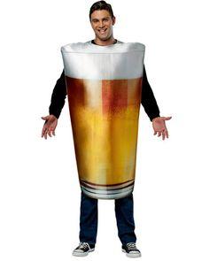 Unisex Pint Glass Adult Costume