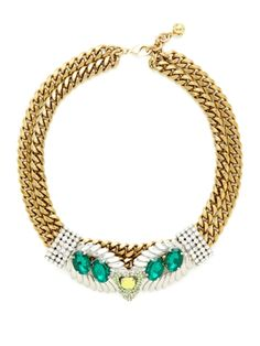 Double Leaf Collar Necklace by Lulu Frost at Gilt