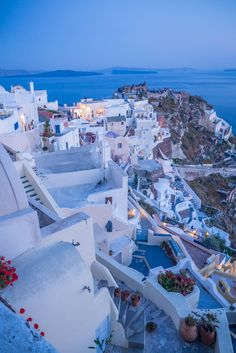 Evening in Oia - Santorini, Greece