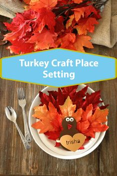 Paper Plate Turkey Craft: Table Placeholders, cute up your Thanksgiving table with this easy paper plate craft , Better than a place card, this is a perfect setting idea Thanksgiving Table Settings, Thanksgiving Crafts, Holiday Crafts, Fall Crafts, Holiday Fun, Holiday Ideas, Homemade Christmas Gifts, Homemade Crafts, Paper Plate Crafts For Kids