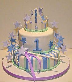 The Little Princess 1st Birthday Cake - (dessertsbyrondi)