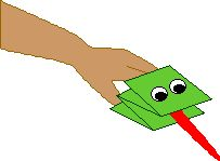 Paper Frog Puppet Craft - Enchanted Learning Software