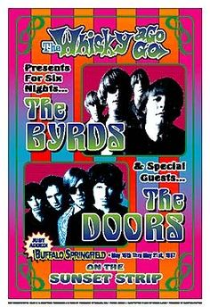 The Byrds and The Doors 1967 Whisky A Go Go  Reprint Concert Poster  (262×382)