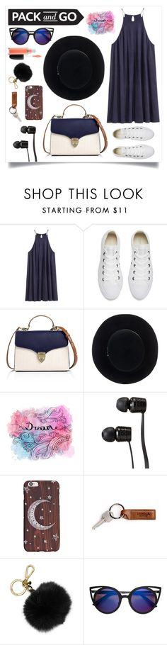 """""""Pack & Go: Labor Day Style"""" by soha20 ❤ liked on Polyvore featuring H&M, Converse, Aspinal of London, Eugenia Kim, Vans, MICHAEL Michael Kors and MAC Cosmetics"""
