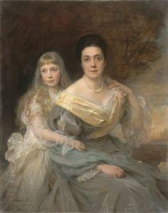 Philip Alexius de László, Portrait of a Lady and her Daughter, (1902)