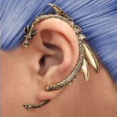 Through Your Ear Dragon Earring