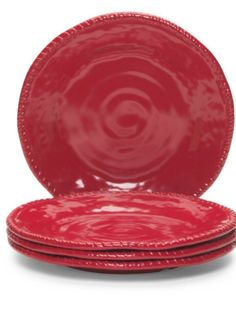 Tommy Bahama Heavyweight Melamine Dinner Plates Red Set of 4 Nautical Rope Edges | eBay  sc 1 st  Pinterest & Bobby Flay 4 pc set Melamine Dinner Plates Dishes - New Indoor ...