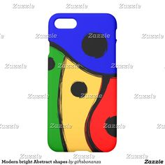 Modern bright Abstract shapes iPhone 7 Case