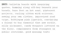 #mbti #enfp WAIT THIS IS MY LIFE minus the bubblegum pink lipstick. And the bathroom compliments.