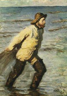 Peder Severin KROYER (1851-1909) : Pêcheurs danois en l'appor...