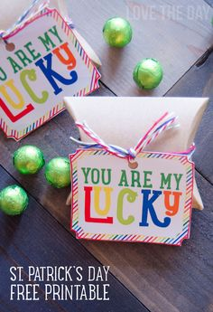 'You Are My Lucky' FREE St. Patrick's Day PRINTABLE by Love The Day