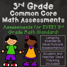 3rd Grade Math Tests or Quizzes Aligned to Common Core Standards - There is an assessment for every standard with math written response questions. There is also teacher and student data tracking sets that align to the assessments.