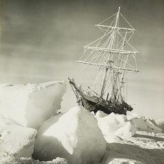 "una-lady-italiana: ""Frank Hurley HMS Endurance intrappolata nel pack antartico 1915 """