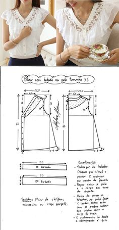 Amazing Sewing Patterns Clone Your Clothes Ideas. Enchanting Sewing Patterns Clone Your Clothes Ideas. Dress Sewing Patterns, Blouse Patterns, Sewing Patterns Free, Free Sewing, Sewing Tutorials, Clothing Patterns, Blouse Designs, Fashion Sewing, Diy Fashion
