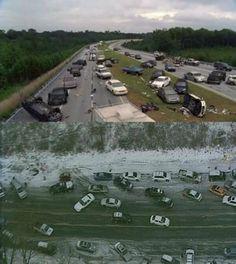 Les événements d'Atlanta VS ceux de The Walking Dead [Photo du jour]