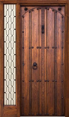 Puertas Rusticas | Mallorca Windows Rustic Doors, Wood Doors, Gate Design, Door Design, Front Door Entrance, Log Furniture, Garden Gates, Carving, Windows