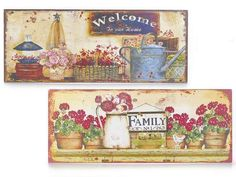 Quadro in metallo da appendere   Flowers  idea regalo country casa
