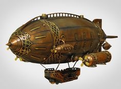 author Alice Didkovskaya-Petrosyuk steampunk airship.