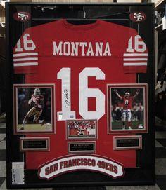 2c15375f3 NFL San Francisco 49ers Joe Montana Signed Jersey Kaepernick Young Cert  Framed