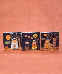 Look what I found on #zulily! Boosville Trick-or-Treater Plaque - Set of Three #zulilyfinds