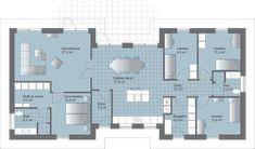 H 164. Planløsning med adskilt børne- og voksenafdeling Planer, My House, Floor Plans, Bungalows, How To Plan, Architecture, Building, Houses, Inspiration