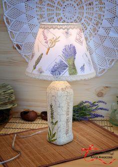 Лампа в стиле прованс «Лаванда»