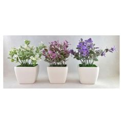 Fleur artificielle dans un pot 17cm FEUILLES du grossiste et import